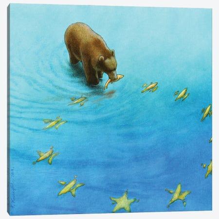 Eu Fishing Canvas Print #PWK33} by Pawel Kuczynski Art Print