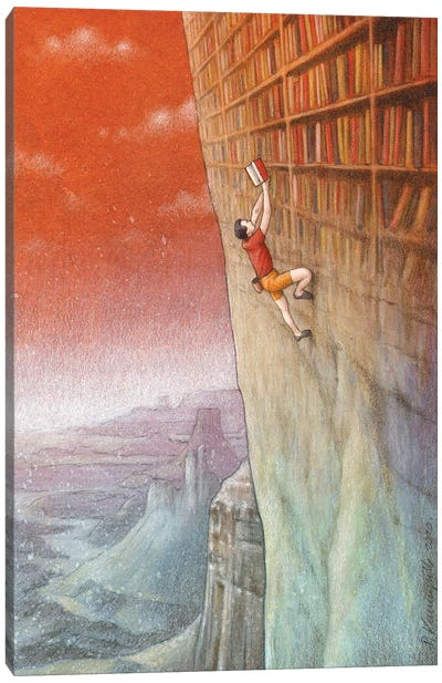 Climbing Canvas Art Print