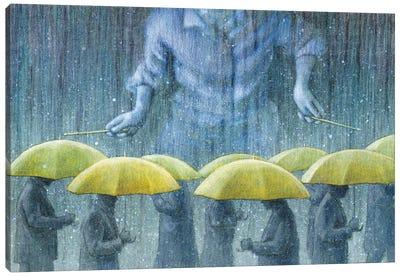 Rain Drummer Canvas Art Print