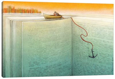 Reader Canvas Art Print