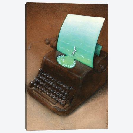 Typewriter Canvas Print #PWK48} by Pawel Kuczynski Canvas Art