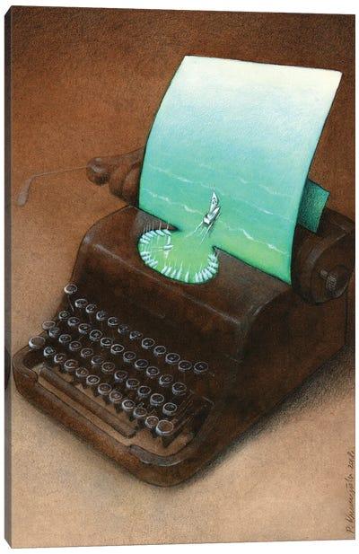 Typewriter Canvas Art Print