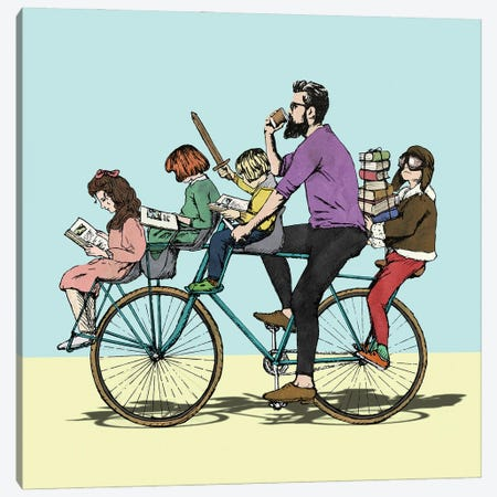 The Bibliobike Canvas Print #PWR11} by Peter Walters Canvas Art
