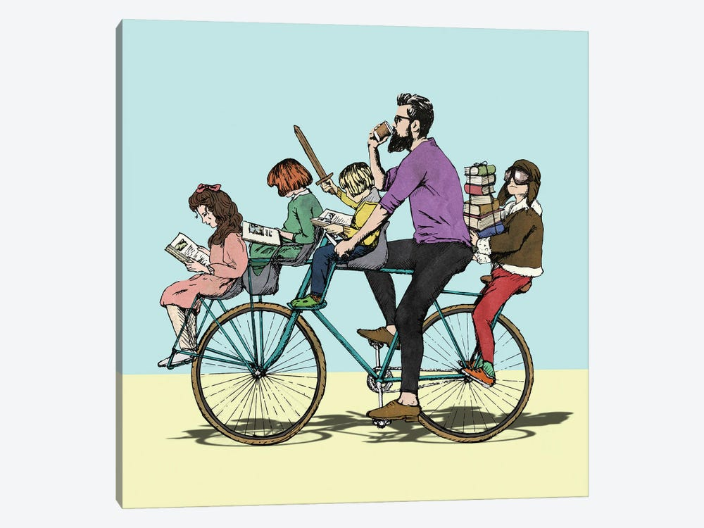 The Bibliobike by Peter Walters 1-piece Canvas Artwork