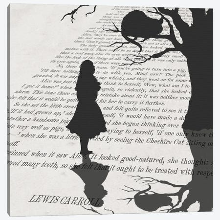 Alice and the Mischievous Grin Canvas Print #PWR16} by Peter Walters Canvas Print