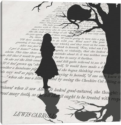 Alice and the Mischievous Grin Canvas Art Print