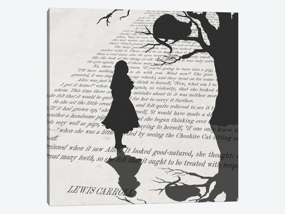 Alice and the Mischievous Grin by Peter Walters 1-piece Art Print
