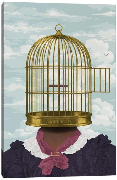 Caged Bird Canvas Art Print