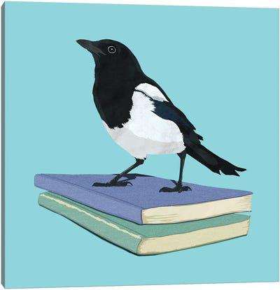 Magpie Librarian Canvas Art Print