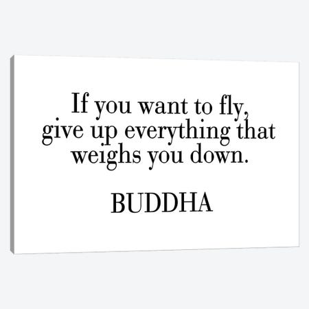 Buddha Quote Canvas Print #PXY108} by Pixy Paper Canvas Art Print