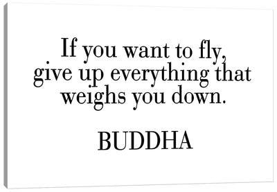 Buddha Quote Canvas Art Print