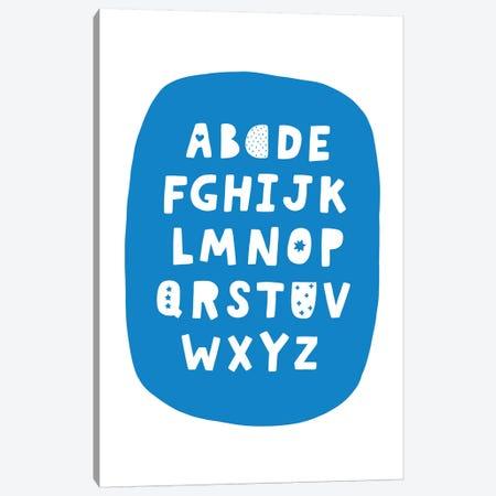 ABC Blue Bubble Canvas Print #PXY10} by Pixy Paper Canvas Print