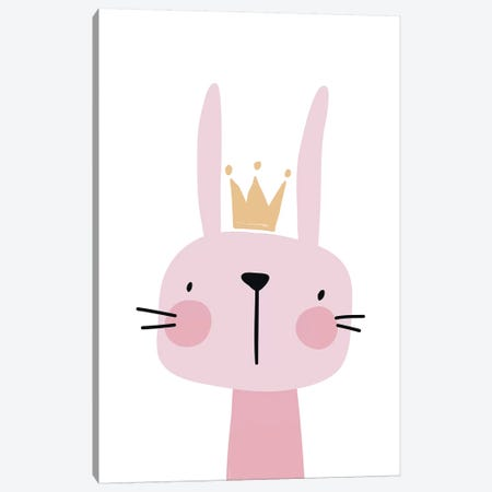 Bunny Pink Canvas Print #PXY110} by Pixy Paper Canvas Artwork