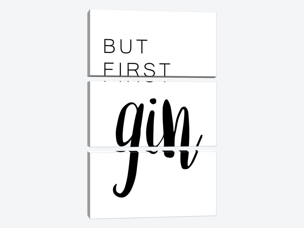 But First Gin by Pixy Paper 3-piece Canvas Artwork