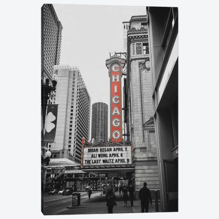 Chicago Theatre Red Canvas Print #PXY124} by Pixy Paper Canvas Art