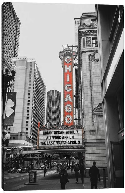 Chicago Theatre Red Canvas Art Print