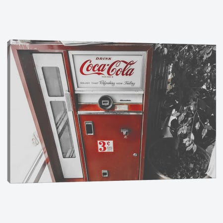 Coca Cola Machine Canvas Print #PXY128} by Pixy Paper Art Print