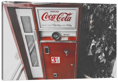 Coca Cola Machine Canvas Art Print