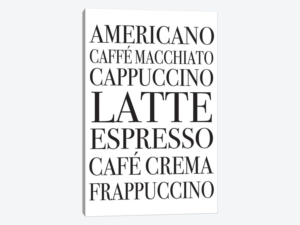 Coffee Board by Pixy Paper 1-piece Canvas Print