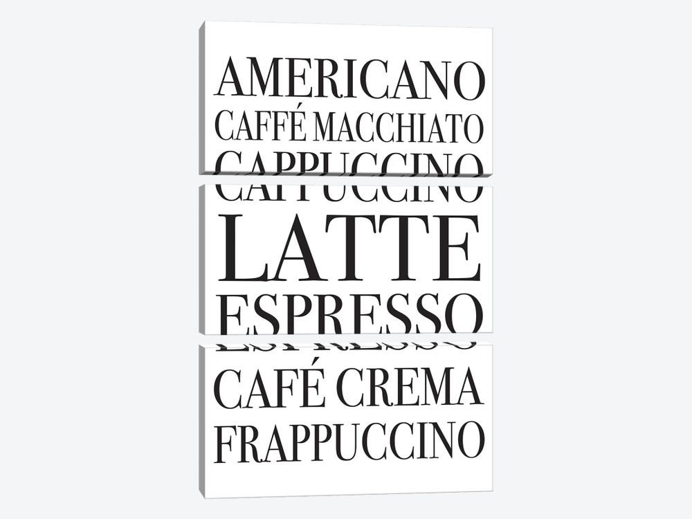 Coffee Board by Pixy Paper 3-piece Canvas Print