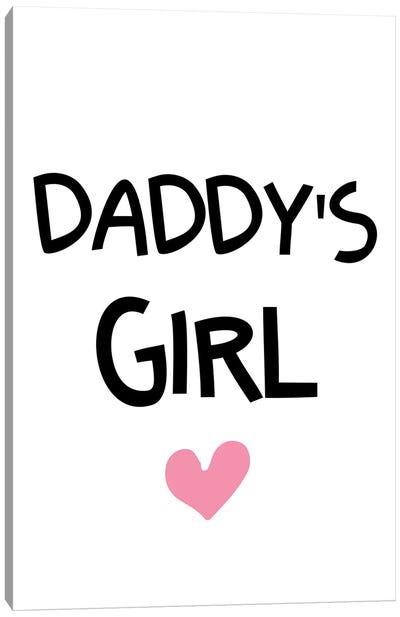 Daddys Girl Funky Canvas Art Print