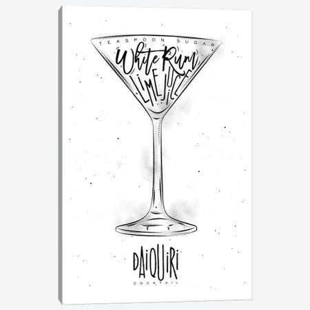 Daiquiri Cocktail White Background 3-Piece Canvas #PXY143} by Pixy Paper Canvas Print