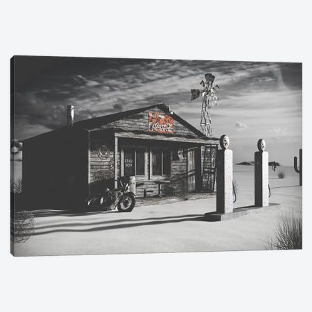 Dark Texas Store Canvas Print #PXY144} by Pixy Paper Canvas Art