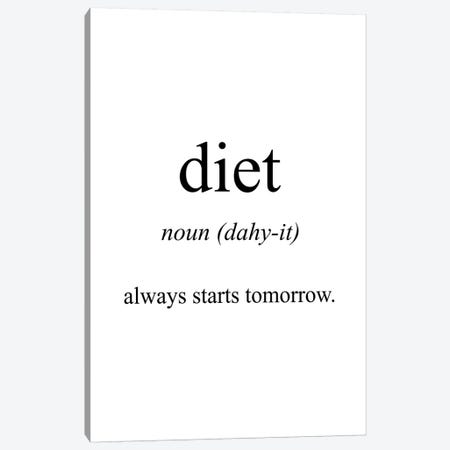 Diet Meaning Canvas Print #PXY149} by Pixy Paper Art Print