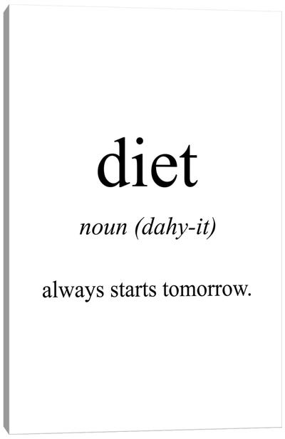 Diet Meaning Canvas Art Print