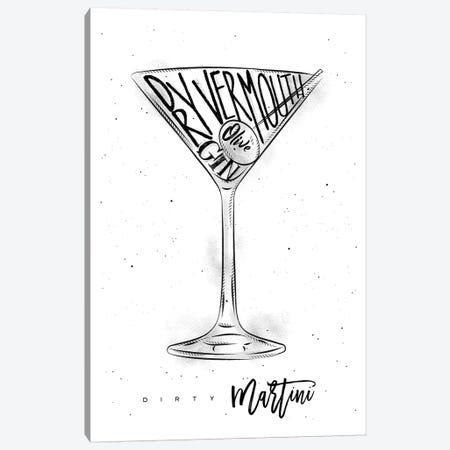 Dirty Martini White Background Canvas Print #PXY152} by Pixy Paper Canvas Art