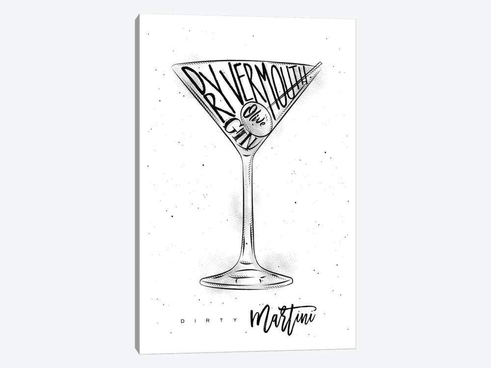 Dirty Martini White Background by Pixy Paper 1-piece Canvas Art