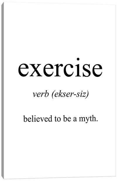Exercise Meaning Canvas Art Print