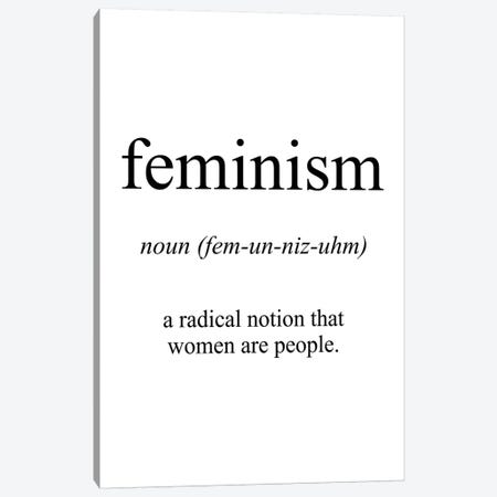 Feminism Meaning Canvas Print #PXY176} by Pixy Paper Canvas Print