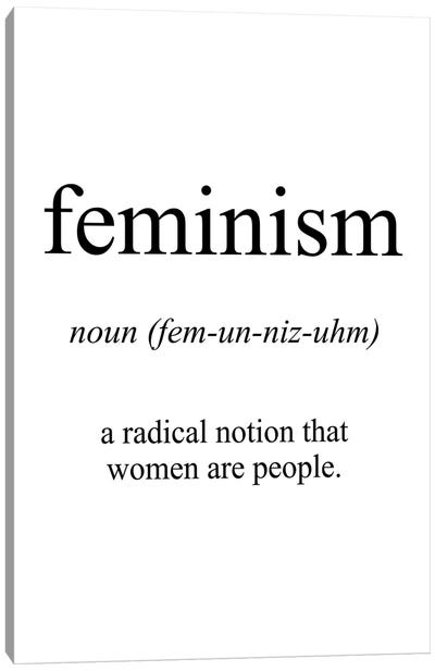 Feminism Meaning Canvas Art Print
