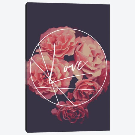 Floral Love Canvas Print #PXY181} by Pixy Paper Art Print