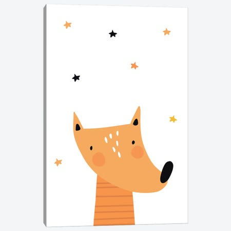Fox Canvas Print #PXY192} by Pixy Paper Canvas Wall Art