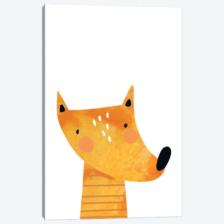 Fox Watercolour Canvas Print #PXY193} by Pixy Paper Canvas Artwork