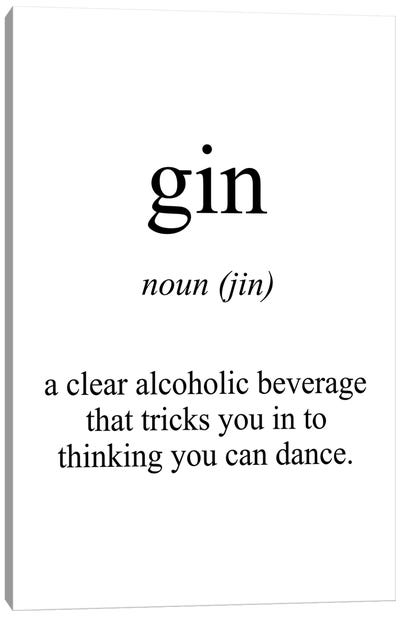 Gin Meaning Canvas Art Print