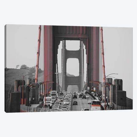 Golden Gate Retro Canvas Print #PXY206} by Pixy Paper Canvas Art Print