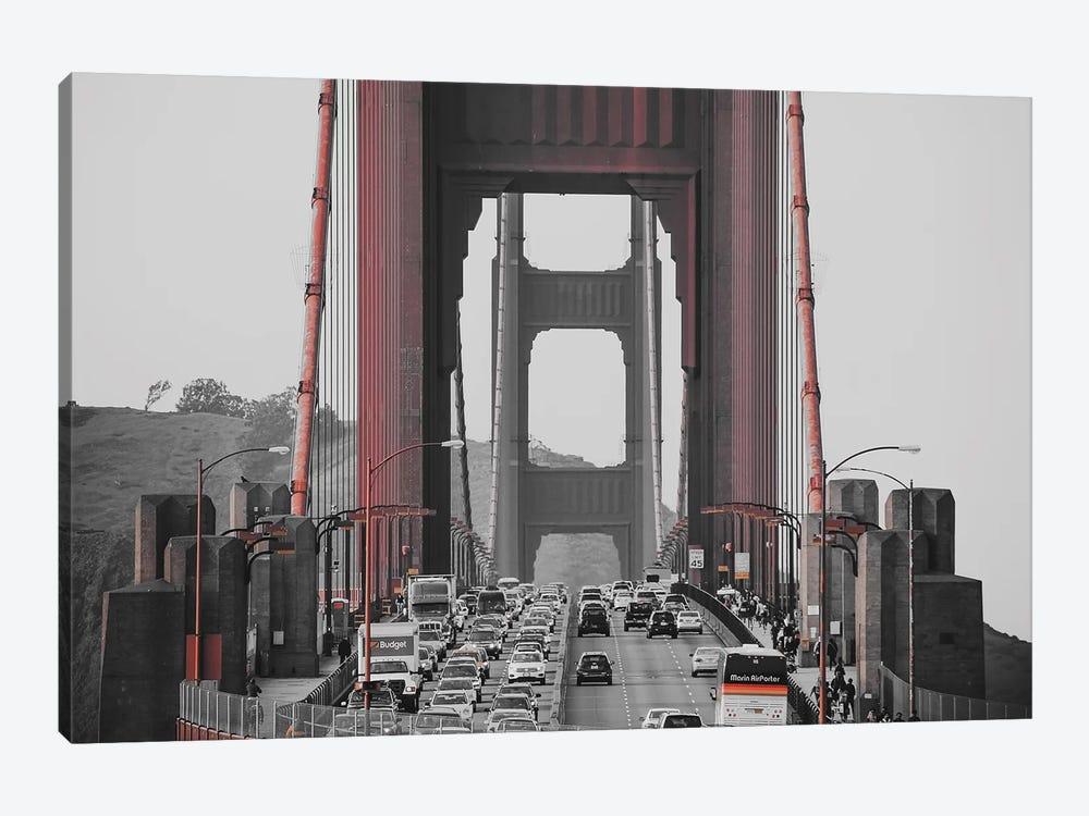 Golden Gate Retro by Pixy Paper 1-piece Canvas Art Print