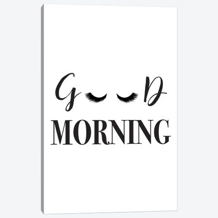 Good Morning Lashes Canvas Print #PXY207} by Pixy Paper Canvas Art Print