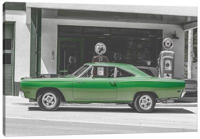Green Car Gas Pump Canvas Art Print