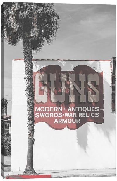Guns Vintage Sign Canvas Art Print
