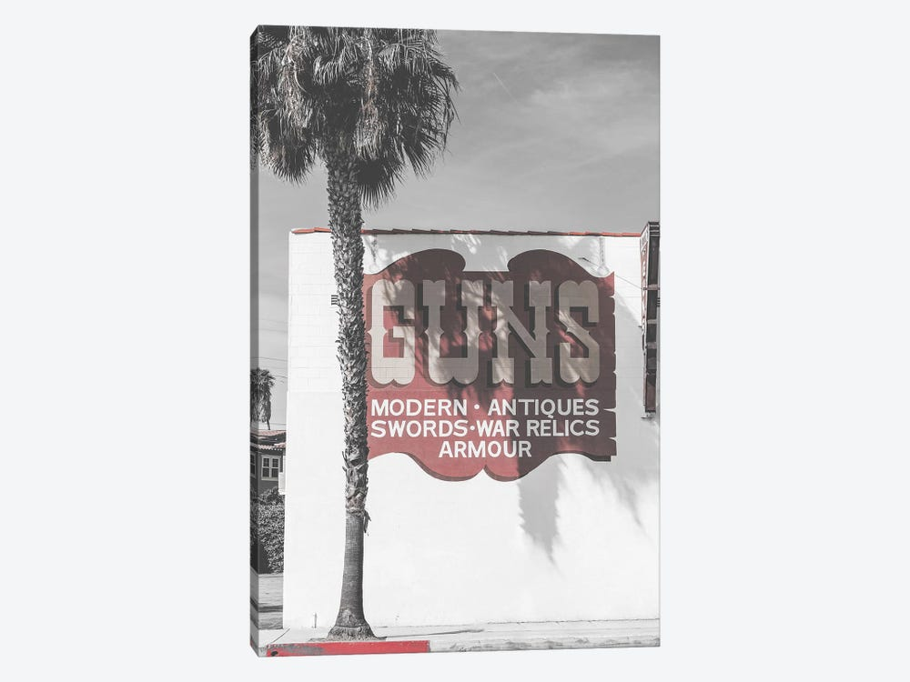Guns Vintage Sign by Pixy Paper 1-piece Canvas Art Print