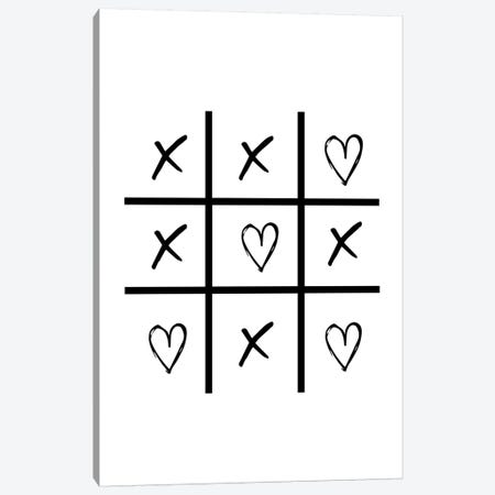 Hearts And Crosses Canvas Print #PXY223} by Pixy Paper Canvas Art