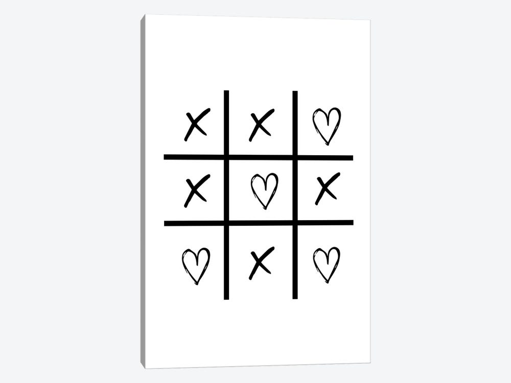 Hearts And Crosses by Pixy Paper 1-piece Canvas Artwork