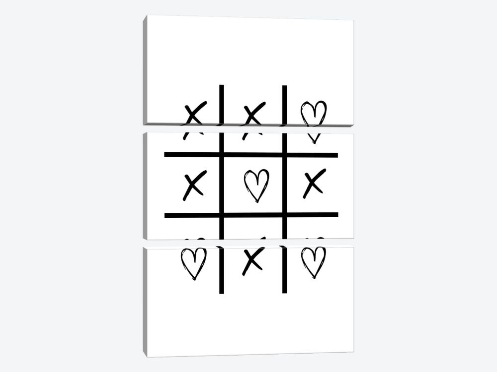 Hearts And Crosses by Pixy Paper 3-piece Canvas Artwork