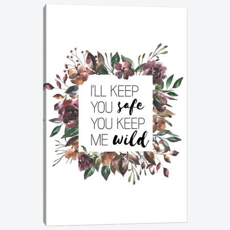 I'll Keep You Safe Autumn Floral Collection Canvas Print #PXY252} by Pixy Paper Canvas Print