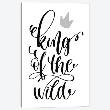 King Of The Wild Black Canvas Print #PXY271} by Pixy Paper Art Print