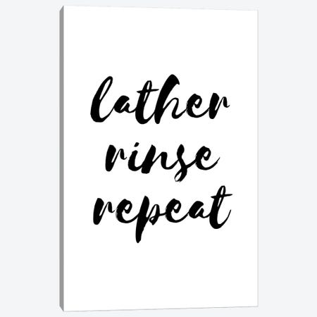 Lather Rinse Repeat 3-Piece Canvas #PXY277} by Pixy Paper Canvas Art